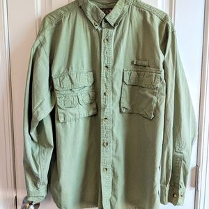 Sports Afield men's large army green Cargo shirt
